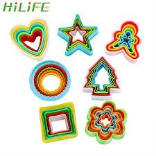 <b>HILIFE Baking Mould Star</b> Heart Flower Cutter 3pcs/set Stainless ...