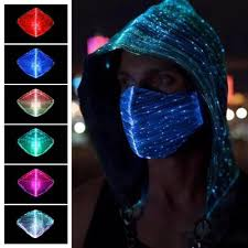<b>LED Rave Mask Light</b> Up LED Dust Mask Glow 7 Color ...