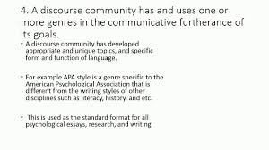 the concept of discourse community text the concept of discourse community text