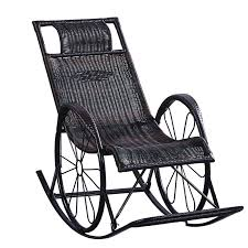 retro creative rocking chair household balcony garden lounge leisure rattan outdoor with footrest adult nap seat