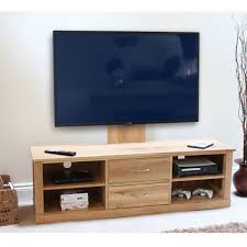baumhaus mobel solid oak mounted widescreen tv cabinet cor09e baumhaus mobel solid oak mounted widescreen