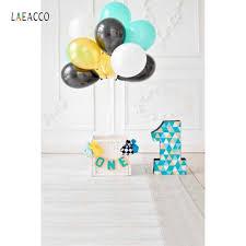 <b>Laeacco</b> Balloons Baby <b>1st Birthday</b> Garland Interior Photography ...