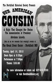 president abraham lincoln minnesota prairie roots promotional poster for the lincoln event in northfield minnesota