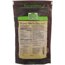 Now Foods, <b>Real Food</b>, <b>Органические</b> Белые Семена Чиа, 454 Г ...