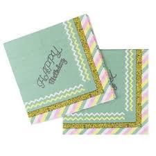 <b>Салфетки бумажные</b> Пати Бум <b>Happy</b> Birthday Тиффани (33x33 ...