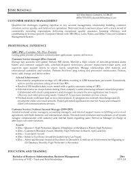 customer service manager position resume sample resumes customer service