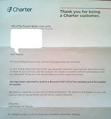 charter communications loyalty discount letter the merchant stand i ll