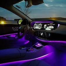 a network of hundreds of leds and fiber optics can create not just a soothing car mood lighting