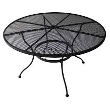 iron patio table rectangular coffee garden treasures davenport  in w x  in l round steel dining table