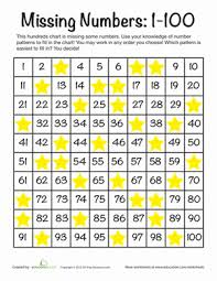 Missing Numbers: 1-100 | Worksheet | Education.comFirst Grade Counting Worksheets: Missing Numbers: 1-100