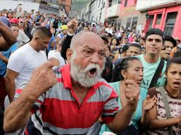 venezuelan economic crisis leads to food shortages   business insider a man shouts during a protest over food shortage and against venezuelas government in caracas on june marco belloreuters