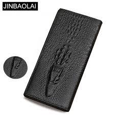 <b>JINBAOLAI Genuine Leather</b> Men Wallets Crocodile pattern Coin ...