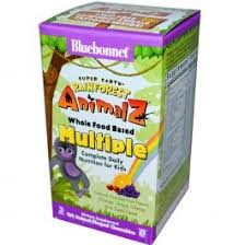 Bluebonnet <b>Rainforest Animalz Whole</b> Food Based Multiple Orange ...