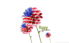 best th usa independence day wishes com happy independence day american flag flower design