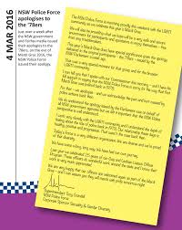 sexuality gender diversity and intersex working lesbian letter nswpf apology to the 78ers