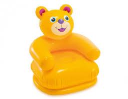 Детское <b>надувное кресло Intex Happy</b> Animal Chair Медвежонок ...