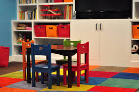 beautiful colorfull wood modern design fun playroom ideas boys tv cabinet under storage chairs table carpet childrens storage furniture playrooms