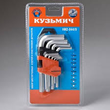 <b>Набор</b> шестигранных <b>ключей</b> 9 предметов <b>Кузьмич НИ2-044/9</b> ...
