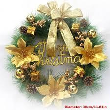 4Types 30cm <b>Christmas Bowknot</b> Ball Bell Flower <b>Christmas</b> Wreath ...