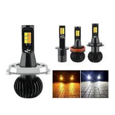 2PCS <b>C6</b> H4 HB2 9003 54W 5200LM <b>Car LED</b> Headlight Bulb Set ...