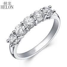 <b>HELON</b> 1 Carat Lab Grown Moissanite <b>Diamond</b> Engagement <b>Ring</b> ...