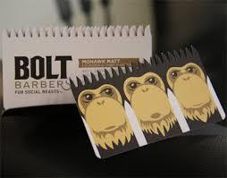 Bolt Barbers' logo.  See no evil.  Hear no evil.  Speak no evil.