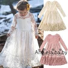 Fashion Princess <b>Toddler Kids Baby Girls</b> Lace Dress Wedding ...