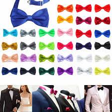 <b>Men Classic Satin</b> Bowtie Necktie For Wedding Party Adjustable ...