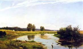 Описание картины Ивана Шишкина «<b>Пейзаж с озером</b>»