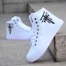 Men Casual <b>Shoes Canvas</b> Botas Comfortable <b>Sneakers</b> High Top ...
