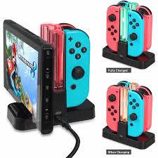 4 в 1 <b>зарядное</b> устройство для контроллера Nintendo <b>Switch</b>/Pro ...
