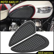 compare prices on triumph stickers online shopping buy low price for triumph bonneville 2001 2015 motorcycle tank traction pad side gas knee grip protector anti