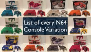 Every Nintendo 64 Console Variation - Complete Color List - CV