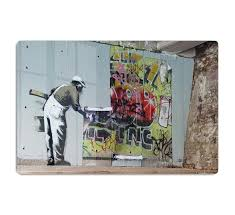 <b>Banksy Graffiti Wallpaper HD</b> Metal Print | Canvas Art Rocks