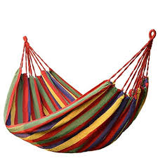 FDSHIP Cotton Striped Foldable Hammock (for Single Person ...