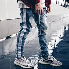Spring <b>Summer</b> Streetwear Hiphop <b>Personality Men</b> Jeans Ripped ...