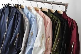 N New Mens Unisex Pockets <b>Solid 4 Colors</b> Zip Up Satin Bomber ...