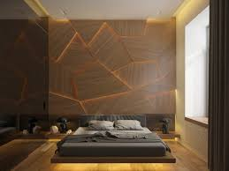 magnificent lighted panels create an immediate impression in the bedroom bedroom homes sharp geometric decor
