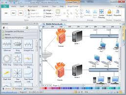 basic network diagram  free examples  software and templates downloadbasic network diagram software