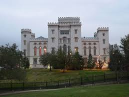 The Old State Capitol Building, which Huey hated. Photo from Baton-Rouge.com.