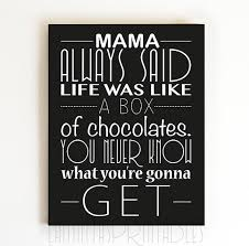 Quote print Mama Always Said Life Was Like by LaminitasPrintables