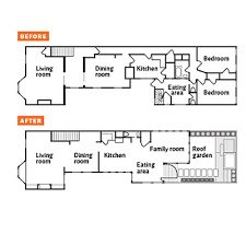 Floor plan  Before  amp  after   Environmentally Friendly House    The house amp    s floorplans  both before and after the renovation