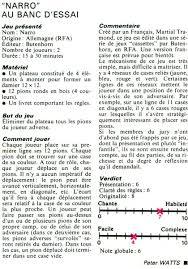 JeuxSoc - jeu : Narro (Martial Tramond, Bütehorn Spiele, 1978) - narro_01