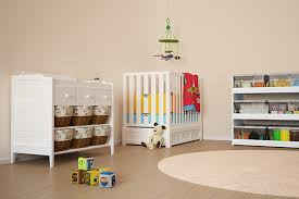 a chest of drawers is an important inclusion for babys clothing which is far too small and fiddly to hang up while shelves and boxes are great for adequate storage space