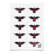 Наклейки прямоугольные 9x5см <b>Blood Ravens</b> #3227095 ...