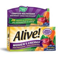 Natures Way <b>Alive</b>! Complete <b>Multivitamin</b>, Women's <b>Energy</b> - <b>50</b> ct