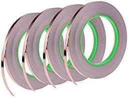 4 <b>Pack</b> Copper Foil <b>Tape</b>,<b>Conductive</b> Adhesive for EMI Shielding ...