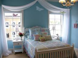 room cute blue ideas: teens roomnicely blue tween girls bedroom with white curtain and brown floor also cone