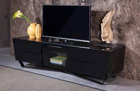 domus max modern black tv stand