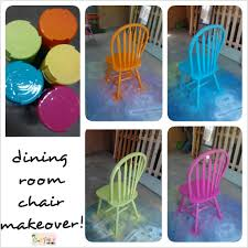 Fun Dining Room Chairs Spray Painted Fiesta Chairs For The Dining Room Table My